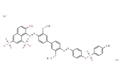 M10470   disodium 8-[[3,3'-dimethoxy-4'-[[4-[[(p-tolyl)sulphonyl]oxy]phenyl]azo][1,1'-biphenyl]-4-yl]azo]-7-hydroxynaphthalene-1,3-disulphonate