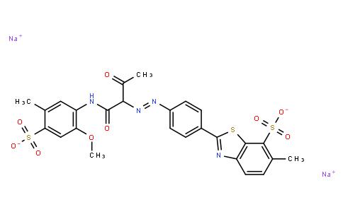 M10700 | disodium 2-[4-[[1-[[(2-methoxy-5-methyl-4-sulphonatophenyl)amino]carbonyl]-2-oxopropyl]azo]phenyl]-6-methylbenzothiazole-7-sulphonate