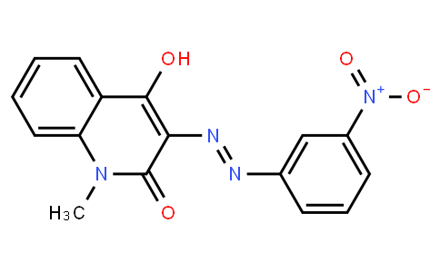 M10731   4-hydroxy-1-methyl-3-[(3-nitrophenyl)azo]-2-quinolone