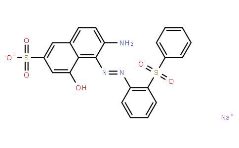 M10796 | sodium 6-amino-4-hydroxy-5-[[2-(phenylsulphonyl)phenyl]azo]naphthalene-2-sulphonate