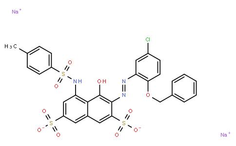 M10799 | disodium 3-[[5-chloro-2-(phenylmethoxy)phenyl]azo]-4-hydroxy-5-[[(p-tolyl)sulphonyl]amino]naphthalene-2,7-disulphonate