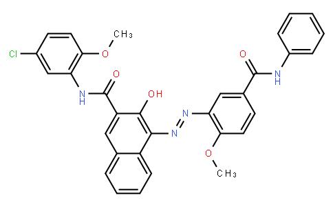 M10800   N-(5-chloro-2-methoxyphenyl)-3-hydroxy-4-[[2-methoxy-5-[(phenylamino)carbonyl]phenyl]azo]naphthalene-2-carboxamide