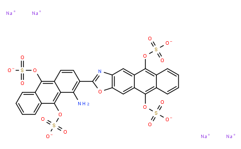 M10829   10126-90-6   tetrasodium 2-[1-amino-9,10-bis(sulphonatooxy)-2-anthryl]anthra[2,3-d]oxazole-5,10-diyl bis(sulphate)