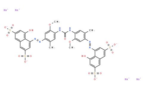 M10868 | tetrasodium 4,4'-[carbonylbis[imino(5-methoxy-2-methyl-4,1-phenylene)azo]]bis[5-hydroxynaphthalene-2,7-disulphonate]