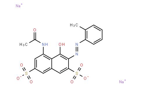 M10869 | disodium 5-(acetylamino)-4-hydroxy-3-[(o-tolyl)azo]naphthalene-2,7-disulphonate