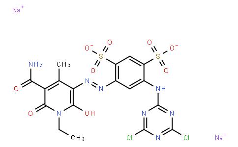 M10901 | disodium 4-[[5-(aminocarbonyl)-1-ethyl-1,6-dihydro-2-hydroxy-4-methyl-6-oxo-3-pyridyl]azo]-6-[(4,6-dichloro-1,3,5-triazin-2-yl)amino]benzene-1,3-disulphonate