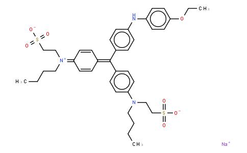 M10929 | hydrogen N-[4-[[4-[butyl(2-sulphonatoethyl)amino]phenyl][4-[(4-ethoxyphenyl)amino]phenyl]methylene]cyclohexa-2,5-dien-1-ylidene]-N-(2-sulphonatoethyl)butylammonium, monosodium salt
