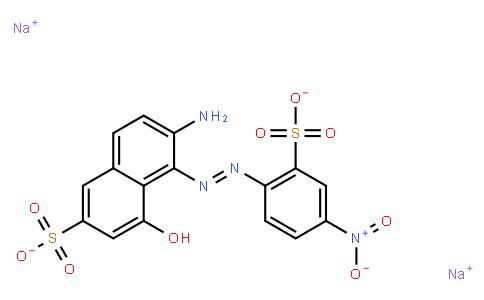 M10957 | disodium 6-amino-4-hydroxy-5-[(4-nitro-2-sulphonatophenyl)azo]naphthalene-2-sulphonate
