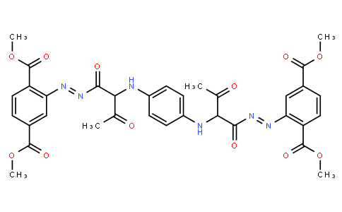 M10959 | tetramethyl 2,2'-[1,4-phenylenebis[imino(1-acetyl-2-oxoethane-1,2-diyl)azo]]bisterephthalate