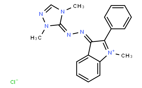 M11023 | 41025-67-6 | 3-[(2,4-dihydro-2,4-dimethyl-3H-1,2,4-triazol-3-ylidene)hydrazono]-1-methyl-2-phenyl-3H-indolium chloride