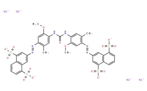 M11039   tetrasodium 3,3'-[carbonylbis[imino(5-methoxy-2-methyl-4,1-phenylene)azo]]bis(naphthalene-1,5-disulphonate)