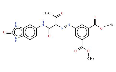 M11070 | dimethyl 5-[[1-[[(2,3-dihydro-2-oxo-1H-benzimidazol-5-yl)amino]carbonyl]-2-oxopropyl]azoterephthalate