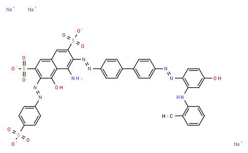 M11103 | trisodium 4-amino-5-hydroxy-3-[[4'-[[4-hydroxy-2-[(o-tolyl)amino]phenyl]azo][1,1'-biphenyl]-4-yl]azo]-6-[(4-sulphonatophenyl)azo]naphthalene-2,7-disulphonate