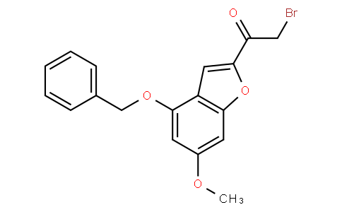 91820 - 1-(4-(benzyloxy)-6-methoxybenzofuran-2-yl)-2-bromoethanone | CAS 1476847-52-5