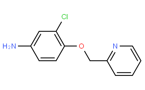 82716 - 3-chloro-4-(pyridin-2-ylmethoxy)aniline | CAS 524955-09-7