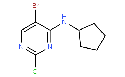82723 - 5-Bromo-2-chloro-N-cyclopentylpyrimidin-4-amine | CAS 733039-20-8