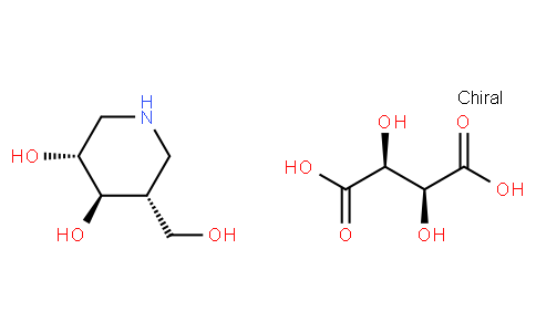 161227115 - Afegostat ( Isofagomine D-Tartrate), ethanol solution | CAS 957230-65-8