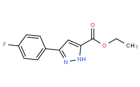 91707 - Ethyl 3-(4-fluorophenyl)-1H-pyrazole-5-carboxylate | CAS 866588-11-6