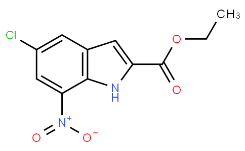 5121008 - ethyl 5-chloro-7-nitro-1H-indole-2-carboxylate | CAS 91119-27-6